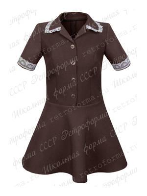 Школьное платье с юбкой полусолнце №1-1