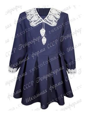 Детское платье с накладным воротником №6-3Д1В