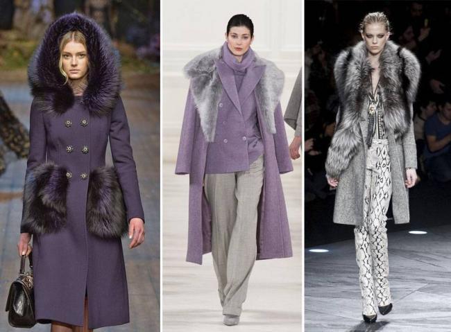 Стильные фасоны женских зимних пальто с мехом