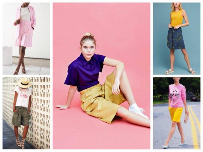 цветные модели шорт